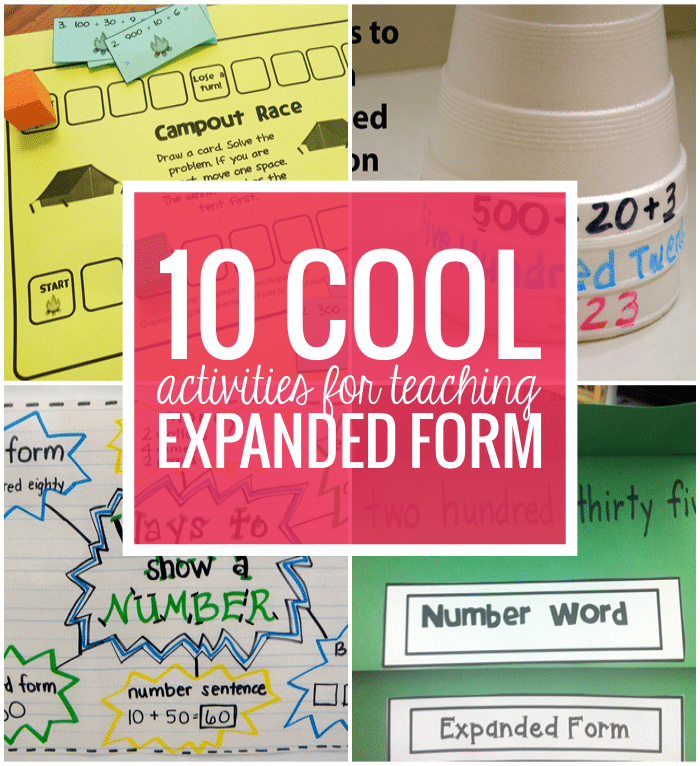 expanded form 5th grade anchor chart  15 Cool Expanded Form Teacher Helpers - Teach Junkie