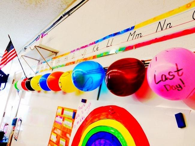 Last Day of School 10 Day Balloon Countdown - Teach Junkie