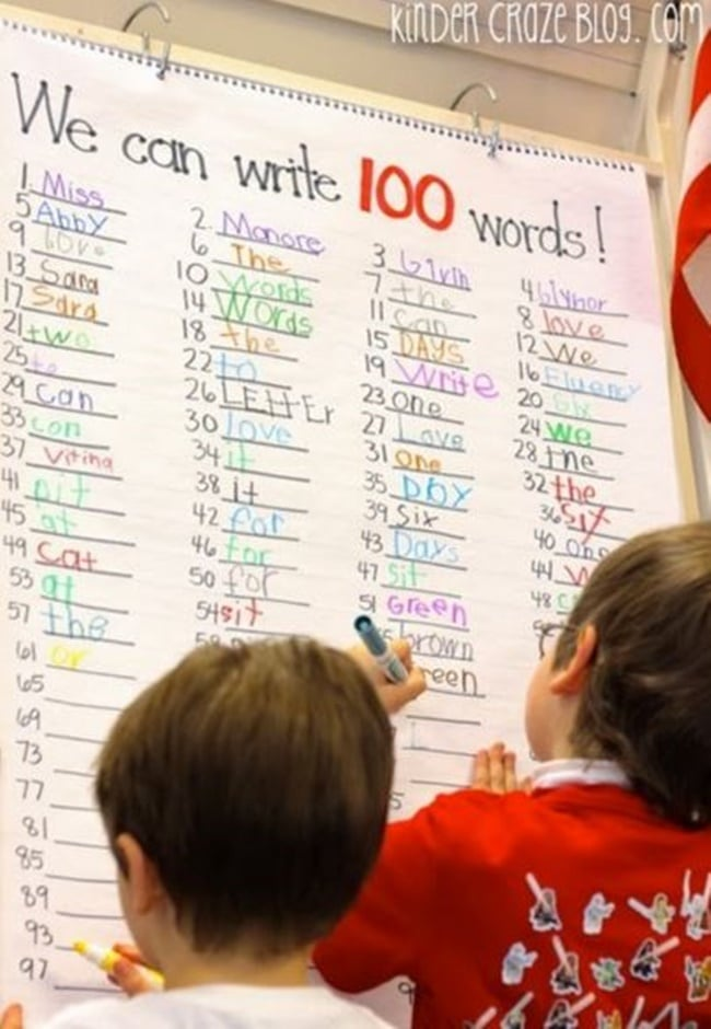 45 Best 100th Day of School Resources - 100 Days 100 Words - Teach Junkie