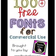 Free Fonts for Commercial Use: Teacher Collection
