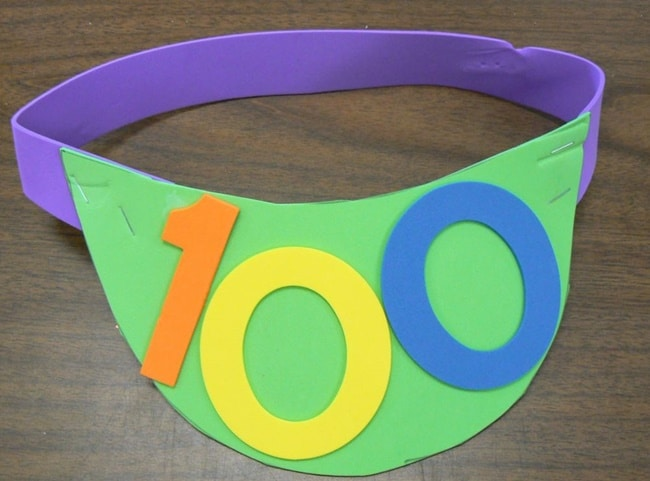 45 Best 100th Day of School Resources - 100th Day Visor - Teach Junkie