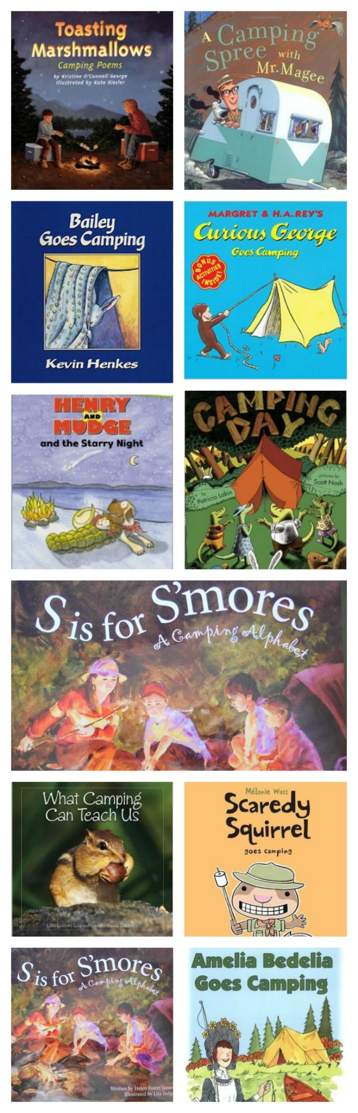 11 Camping Books for the Elementary Classroom - I love these