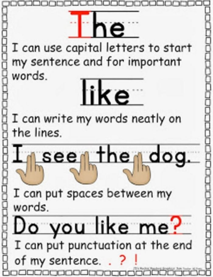 11 Fantastic Writing Rubrics for Kindergarten - beginning writers checklist - Teach Junkie