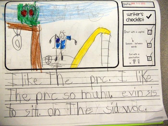 11 Fantastic Writing Rubrics for Kindergarten - primary lined paper journal - Teach Junkie
