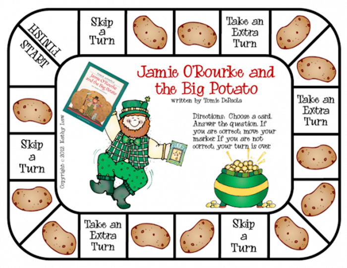 11 Free St. Patrick's Day Primary Printables - Jamie o Rourke game