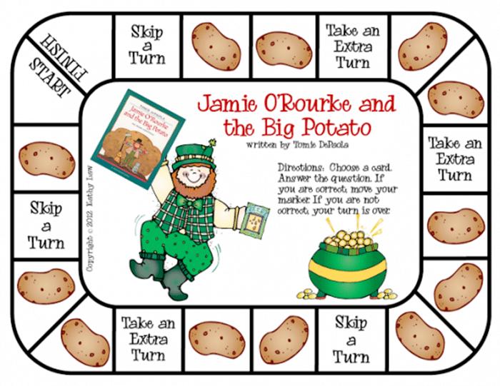 11 Free St. Patrick's Day Primary Printables - Jamie o Rourke game