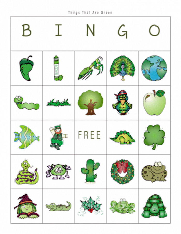 11 Free St. Patrick's Day Primary Printables - bingo