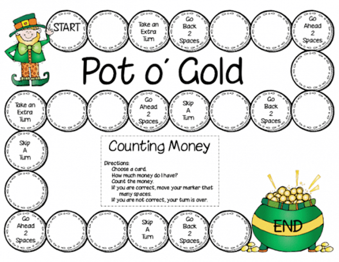 11 Free St. Patrick's Day Primary Printables - counting money