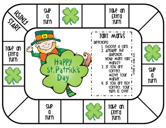 11 Free St. Patrick's Day Primary Printables - tally marks