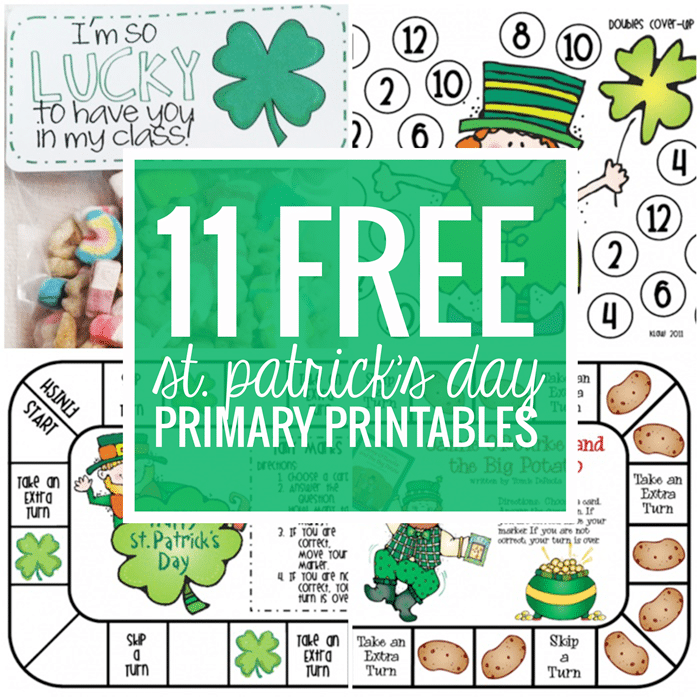 11 Free St. Patrick's Day Primary Printables