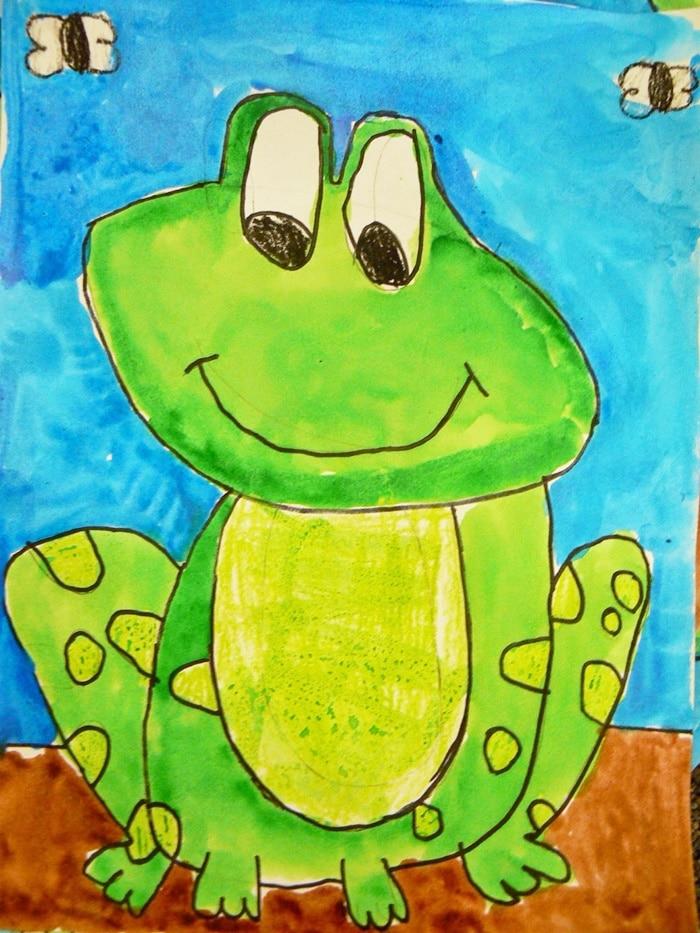Frog life cycle printable book