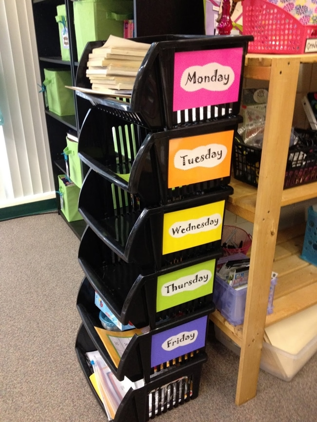 14 Stunning Classroom Decorating Ideas to Make Your Classroom Sparkle Organizing Weekly Prepped Materials - Teach Junkie