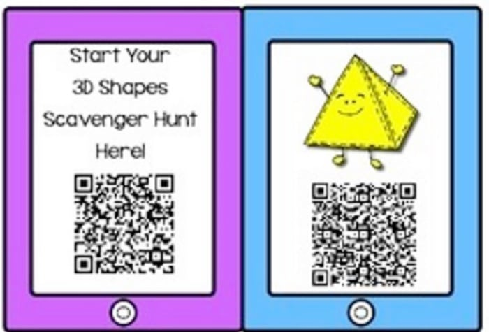 16 Fun QR Code Learning Activities for Free - 3D Shapes Scavenger Hunt - Teach Junkie