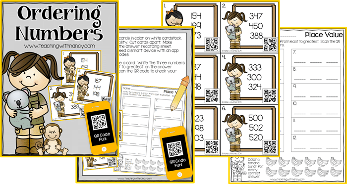 16 Fun QR Code Learning Activities for Free - Ordering Numbers - Teach Junkie