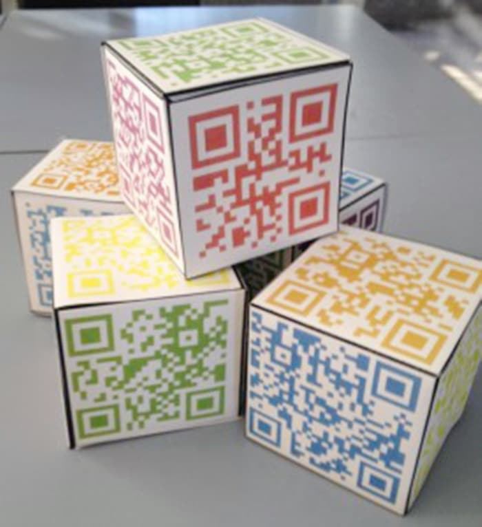 16 Fun QR Code Learning Activities for Free - Reflection Cube Template - Teach Junkie