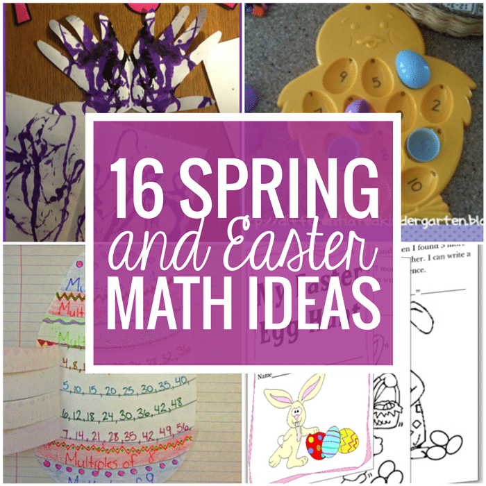 16 Spring and Easter Math Ideas - Free downlaods