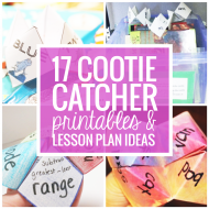 17 Quick Cootie Catcher Printables and Lesson Plan Ideas