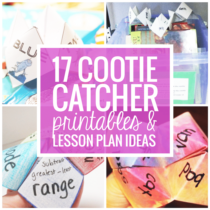 17 Quick Cootie Catcher Printables and Lesson Plan Ideas