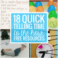 18 Quick Telling Time to the Hour Resources