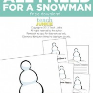 All I Need for a Snowman {Free Download}
