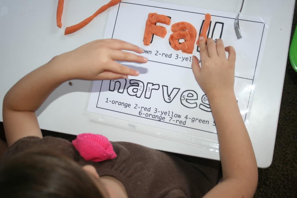 Pumpkin Spiced Playdough for Word Work - Teach Junkie
