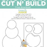 Snowman Cut n' Build {Free Download}