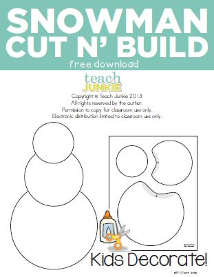 Teach Junkie: Snowman Cut n' Build {Free Download}