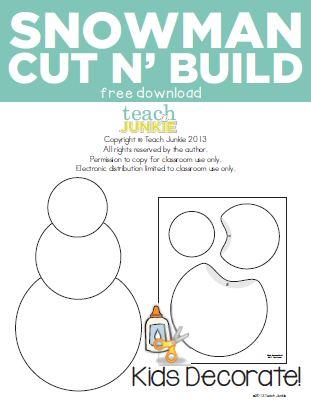 Teach Junkie: Snowman Cut n' Build {Free Download}