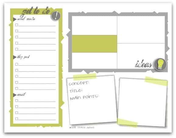 blogger to do list free download teach junkie
