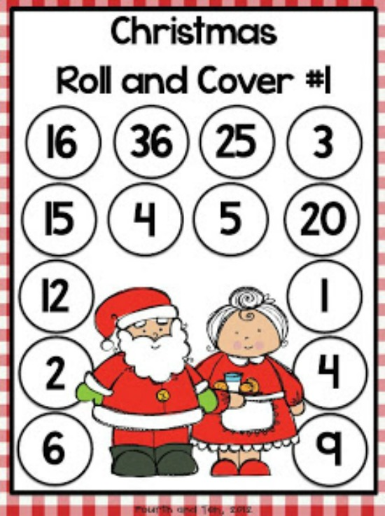 """Teach Junkie: 40 Roll and Cover """"Bump"""" Cool Math Games - Christmas Multiplication"""