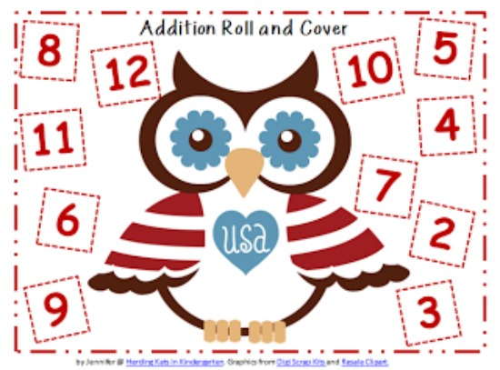 """Teach Junkie: 40 Roll and Cover """"Bump"""" Cool Math Games - Independence Day"""