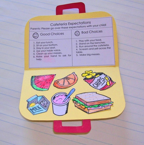 Teach Junkie: Back to School Lunch Procedures - Cafeteria Expectations Craft