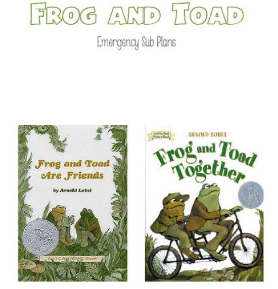 Teach Junkie: 25 Easy Frog and Toad Ideas and Activities - Frog and Toad Free Substitute Plans