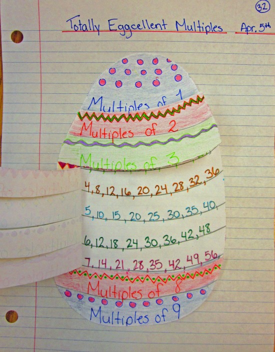 "Teach Junkie: 16 Spring and Easter Math Ideas {Free Download} - ""Egg""cellent Multiples"