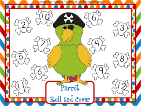 """Teach Junkie: 40 Roll and Cover """"Bump"""" Cool Math Games - Parrot"""