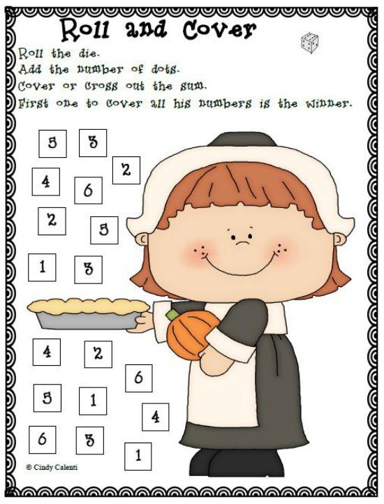 "Teach Junkie: 40 Roll and Cover ""Bump"" Cool Math Games - PIlgrims"