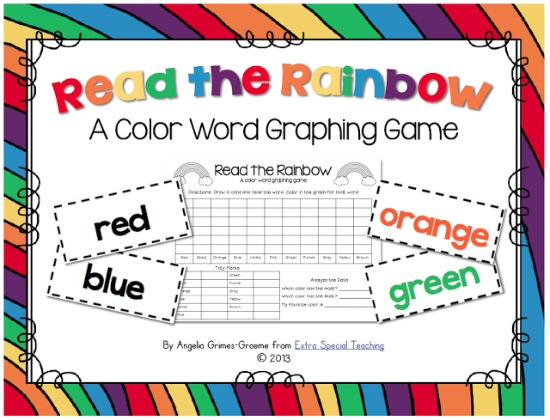 Teach Junkie: 3 Kindergarten St. Patrick's Day Sight Word Games - Read the Rainbow