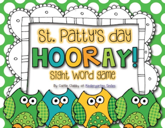 Teach Junkie: 3 Kindergarten St. Patrick's Day Sight Word Games - Hooray!