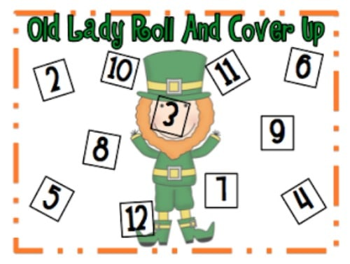 """Teach Junkie: 40 Roll and Cover """"Bump"""" Cool Math Games - There Was An Old Lady Versions"""