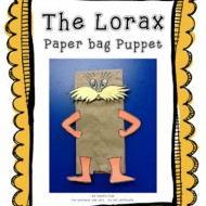 Dr. Seuss Worksheets and a Lorax Paper Bag Puppet