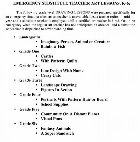 Teach Junkie: Art and Music Sub Plan Ideas, Sub Binder and Emergency Sub Plans