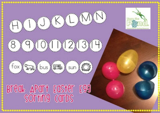 Teach Junkie: 6 Spring ELA Word Work Activities {Free Download} - Break-Apart Easter Egg Center Activities