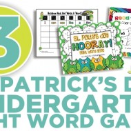 3 Kindergarten St. Patrick's Day Sight Word Games