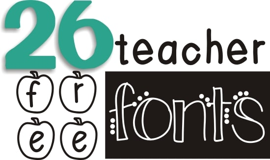 Teach Junkie: 26 Free Fonts for Teachers