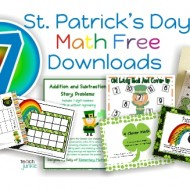 7 St. Patrick's Day Math Free Downloads