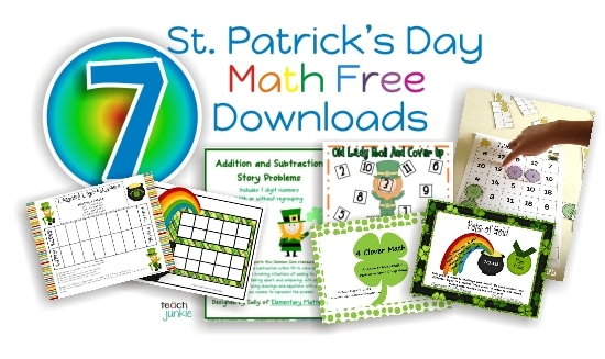 St. Patrick's Day Math Free Download {Goodie Bag} - Teach Junkie