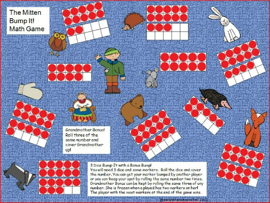 """Teach Junkie: 40 Roll and Cover """"Bump"""" Cool Math Games - The Mitten"""