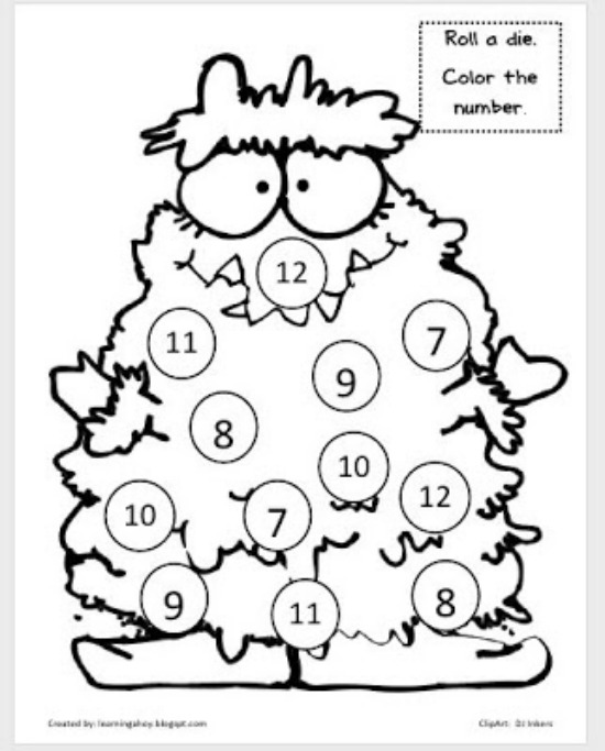 """Teach Junkie: 40 Roll and Cover """"Bump"""" Cool Math Games - Monster Cover Up"""
