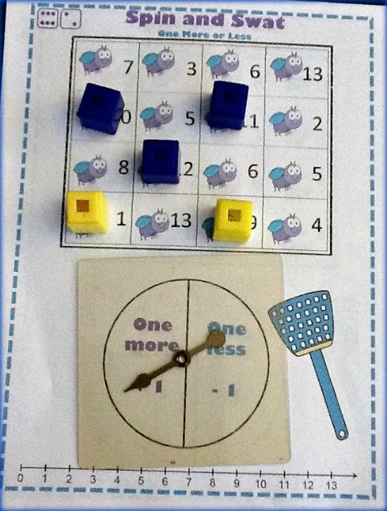 """Teach Junkie: 40 Roll and Cover """"Bump"""" Cool Math Games - 1 More or 1 Less"""