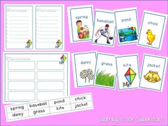 Teach Junkie: 3 Spring Alphabetical Order Downloads for First Grade - Alphabetical Order Packet